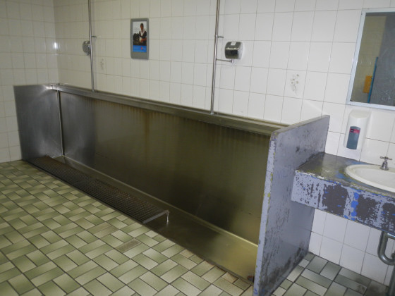 ブリスベンのバス停のトイレ